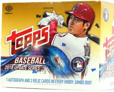 2018 Topps Update Baseball Jumbo Hobby Box