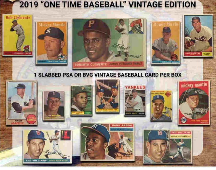 2019 Super Break One Time Baseball Vintage Edition 10 Box Double Case Break Special Fantasy Draft Style Read Details Must Watch Live To