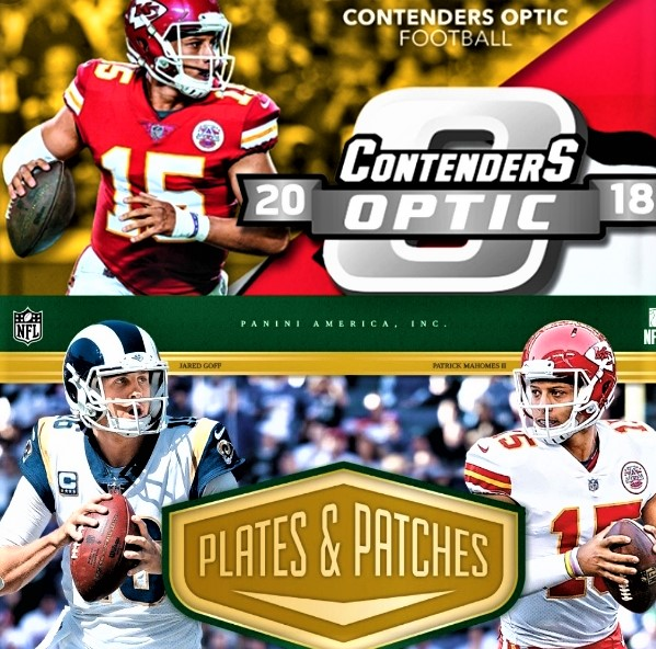 6a2b4178b2a  FOOTBALL DOUBLE CASE  2018 PANINI CONTENDERS OPTIC and PLATES   PATCHES  FOOTBALL – RANDOM TEAMS + FREE SPOT GIVEAWAY + LEAF AUTO MINI HELMET  GIVEAWAY