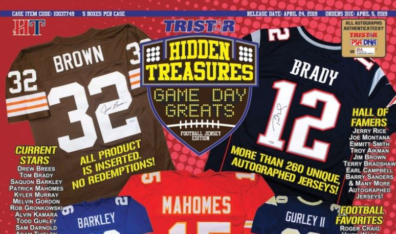 7e51e52f9 2019 TRISTAR Hidden Treasures Game Day Greats Autographed Football Jerseys  PRODUCT HIGHLIGHTS